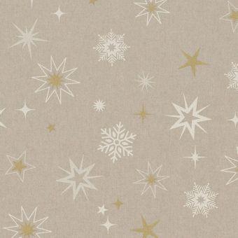 Tissu de Noël coton épais étoile or