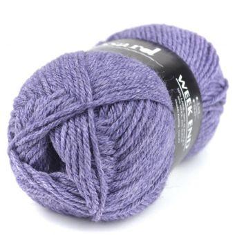 Pelote de fil à tricoter week-end violet chiné - Plassard