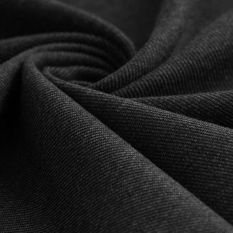 Tissu sergé Avoriaz lainage noir