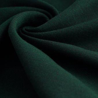 Tissu sergé Avoriaz lainage vert sapin
