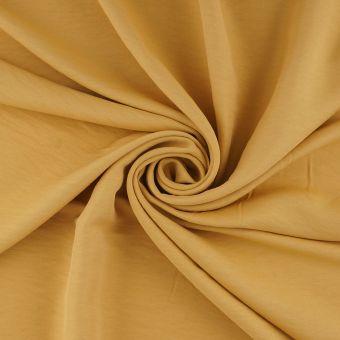 Tissu twill viscose polyester recyclé jaune