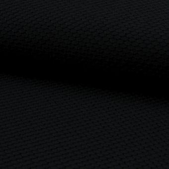 Tissu coton à broderie anglaise losanges noirs