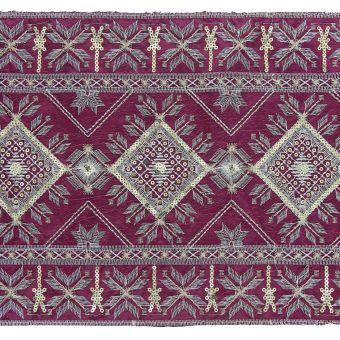 Galon oriental très large violet 22 cm
