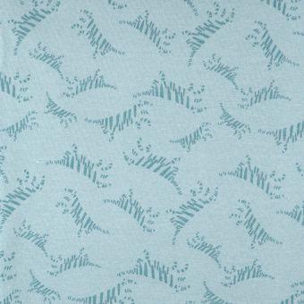 Tissu molleton sweat french terry bleu tigres