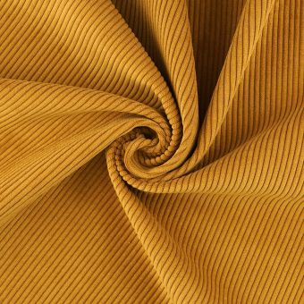 Tissu velours cotes first ocre