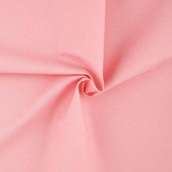 Tissu sergé rose à paillettes dorées
