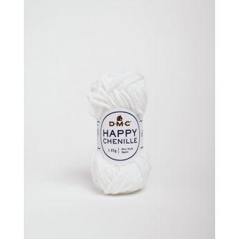 Pelote Happy chenille blanc 20