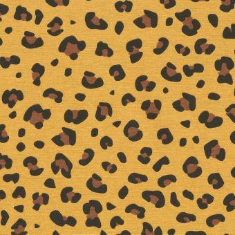 Tissu ottoman peau de bête jaune