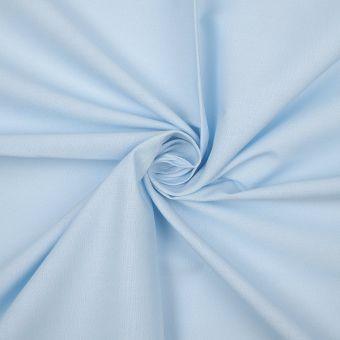 Tissu coton bio uni bleu ciel