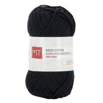 Pelote de fil à tricoter MT Basic coton noir