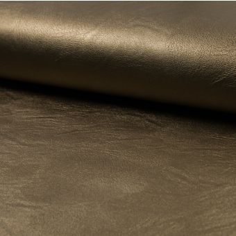 Tissu simili cuir métallisé bronze
