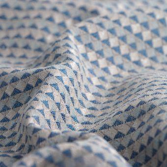 Tissu jacquard Miyake bleu