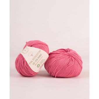 Pelote de coton à tricoter Phildar Ecocoton pétunia