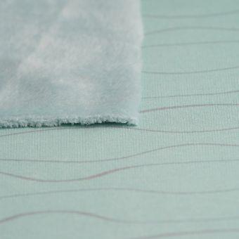 Tissu polaire Alpfleece bleu ondulations