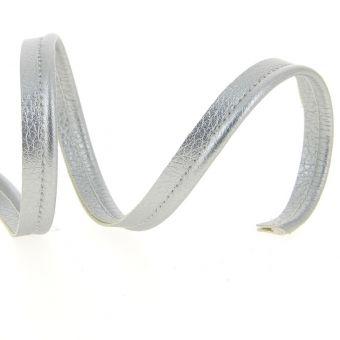 Passepoil simili cuir argenté 10 mm