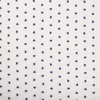 Tissu coton cœurs noir