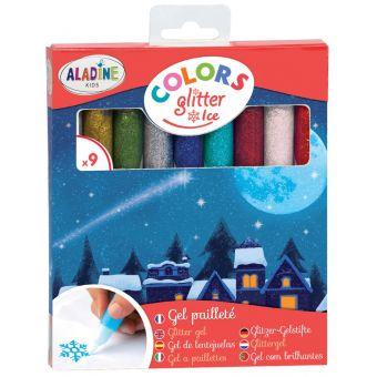 Crayons de gel pailleté - Pack de 9