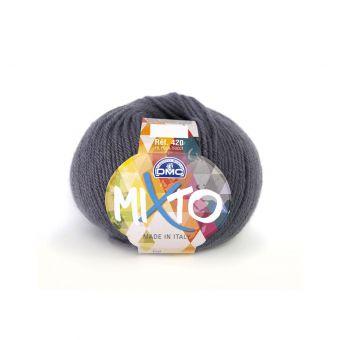 Pelote de fil à tricoter DMC Mixto gris