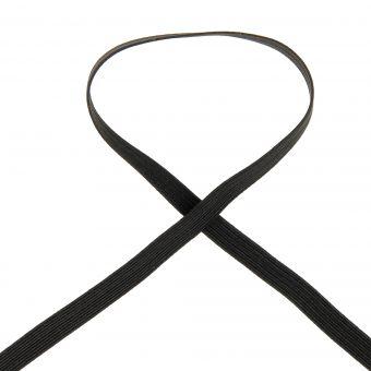Tresse élastique plate noire 10 gommes