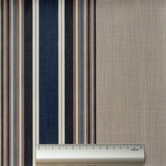 Tissu toile Dralon outdoor double enduction rayé anthracite