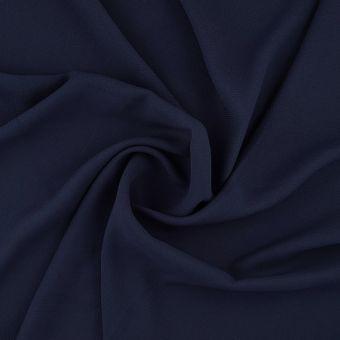 Tissu satin polyester relief bleu marine