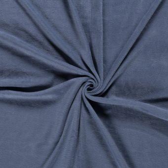 Tissu polaire uni jean