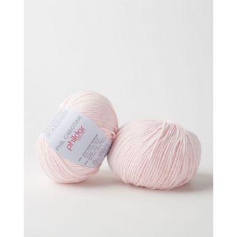 Pelote à tricoter coton-acrylique Phildar Cabotine meringue