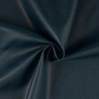 Tissu simili cuir bleu pétrole