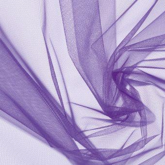 Tissu tulle uni violet