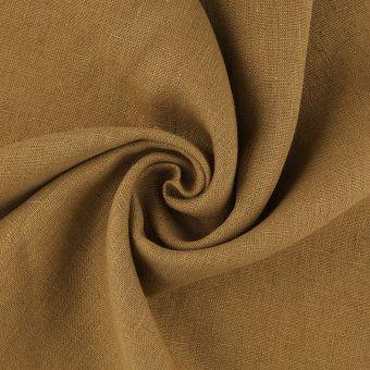 Tissu lin lavé Propriano marron