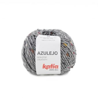 Pelote de fil à tricoter Katia Azulejo gris