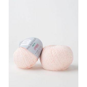 Pelote de coton à tricoter Phildar rustique peau