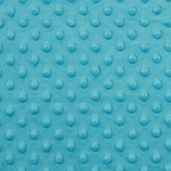 Tissu polaire minky bleu turquoise