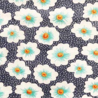 Tissu Popeline de coton osami bleu ardoise - Petit Pan