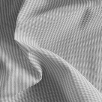 Tissu piqué de coton motifs rayures gris
