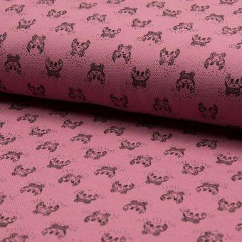 Tissu piqué de coton à motifs Crabes roses