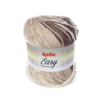 Fil à tricoter Katia Easy jacquard marron beige