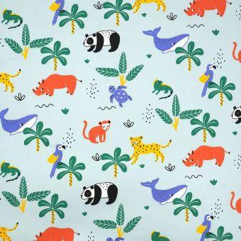 Tissu coton percale animaux