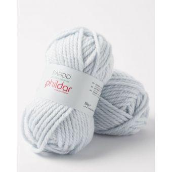 Pelote de fil à tricoter Phildar Rapido écume