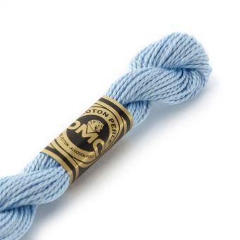 Fil de coton perlé à broder DMC - Bleu