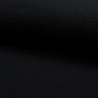 Tissu matelassé coton stretch noir