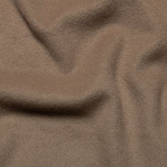 Tissu lainage manteau taupe uni fait en Italie