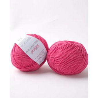 Pelote à tricoter coton-acrylique Phildar Cabotine bengale