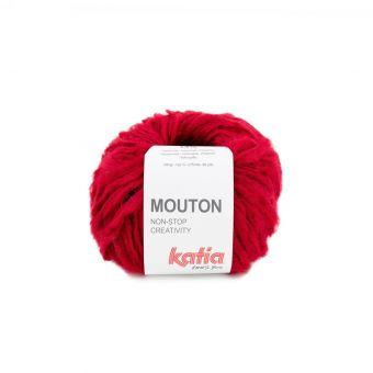 Pelote de fil à tricoter Katia Mouton rouge
