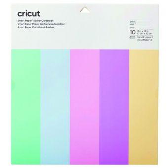 Papier cartonné autocollant cricut smart paper pastel 10 feuilles 33 x 33 cm