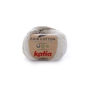 Fil à tricoter bio Katia Fair Cotton gris perle