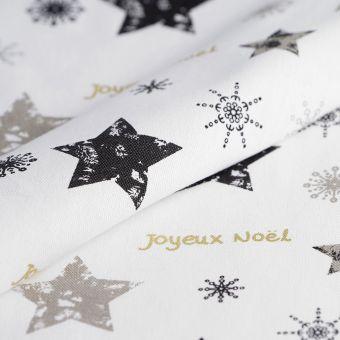 Tissu de Noël coton épais joyeux noël