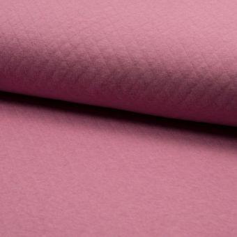 Tissu jersey matelassé rose
