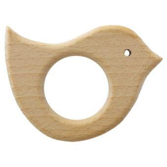 Anneau de dentition en bois oiseau