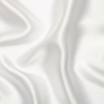 Tissu satin de soie ivoire uni fait en Italie